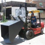 3 ton Hyundai Diesel Forklift Attachment Bucket Zawieszany widelec i łyżka